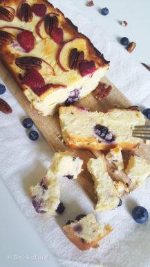 Kwarkcake met zomerfruit
