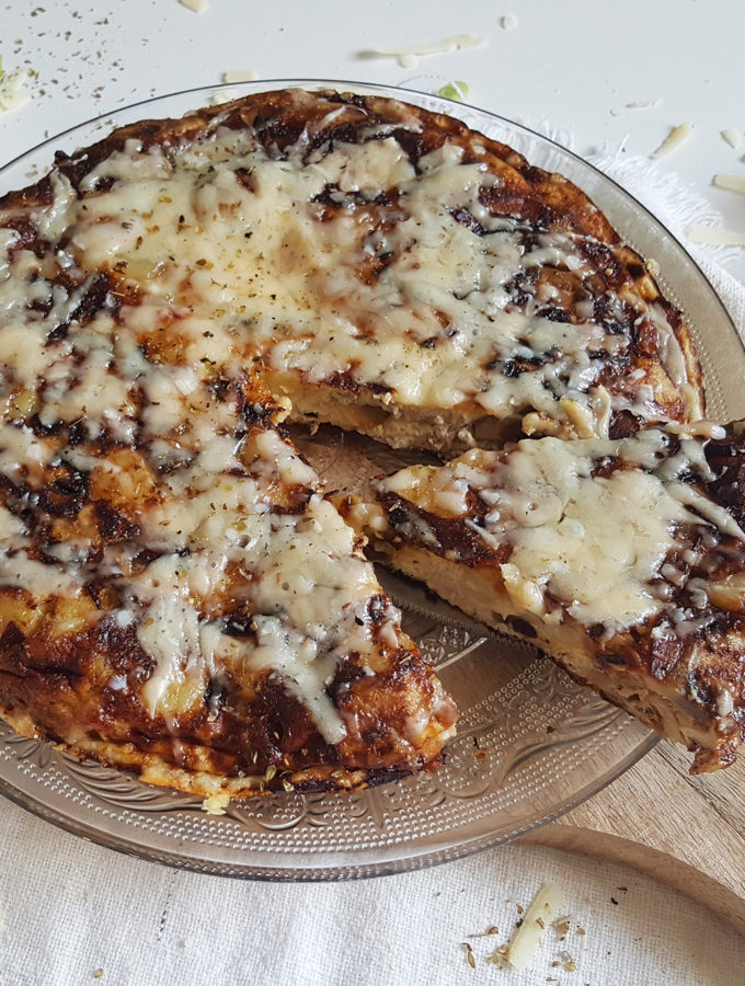 Spaanse omelet met champignons en walnoten