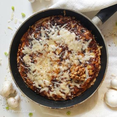 Tortilla met champignons (Spaanse omelet)
