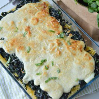 vegetarische pastaschotel met spinazie en bechamelsaus betty's Kitchen italiaanse recepten