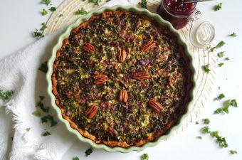 Boerenkool quiche met cranberry compote