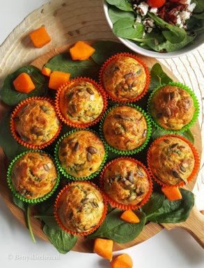 Kaasmuffins met pompoen en spinazie 1