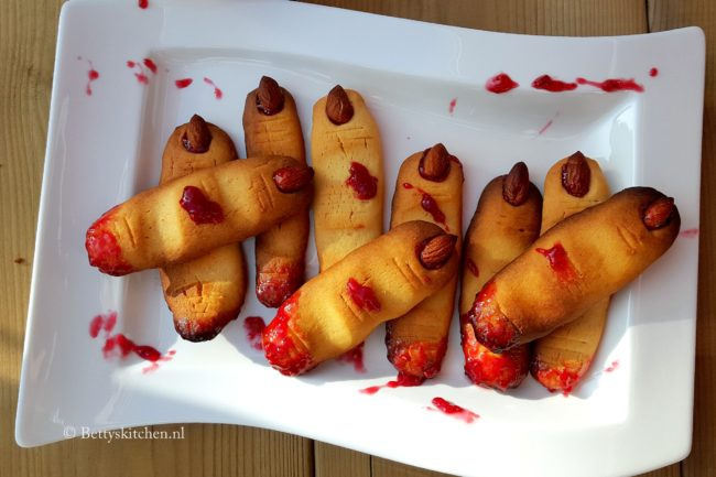 monster vingers halloween koekjes recept betty's kitchen