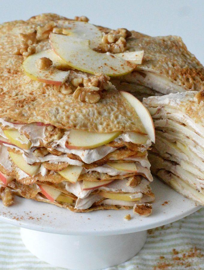 recept pannenkoekentaart met appel en kaneel room bettys kitchen pannenkoeken recepten