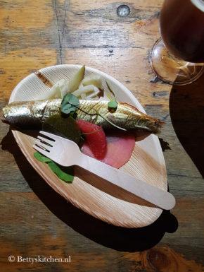 Salade met gerookte bokking, Double IPA