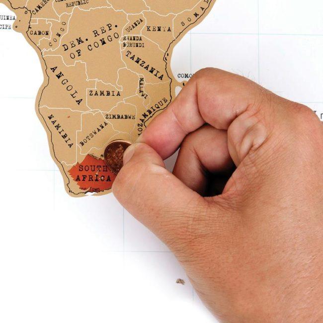 wereldkaart open krassen last minute cadeau inspiratie sinterklaas kerst en meer