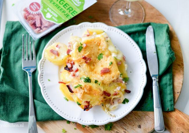 recept tartiflette Franse aardappelschotel met spekjes en kaas wintersport eten
