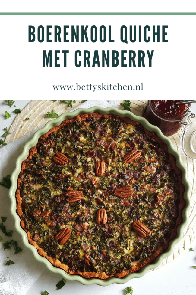 boerenkool quiche met cranberry