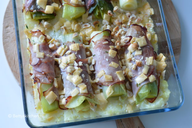 recept ovenschotel met prei en ham betty's kitchen