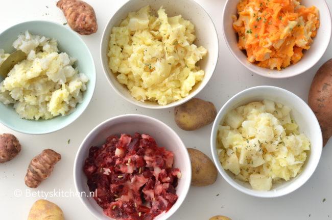 recept zelf aardappelpuree maken variatie recepten betty's kitchen