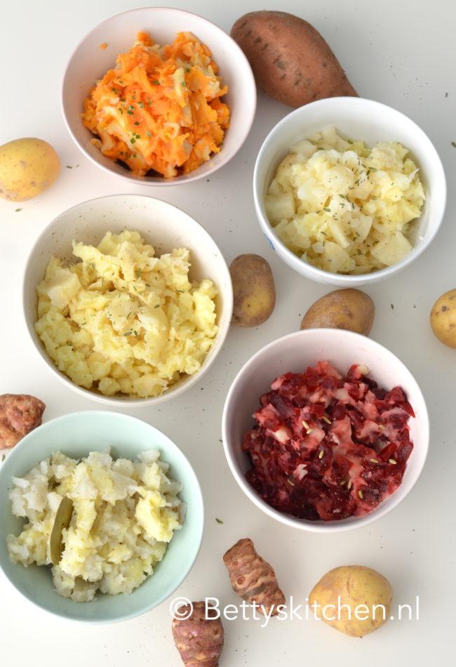 10x bijgerechten voor Kerst - recept zelf aardappelpuree maken variatie recepten betty's kitchen