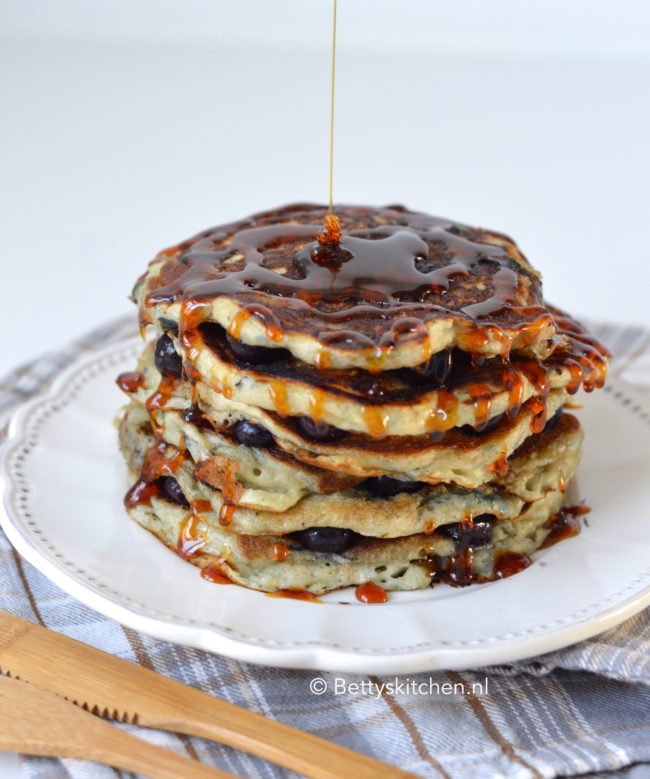 recept blueberry pancakes met karnemelk betty's kitchen