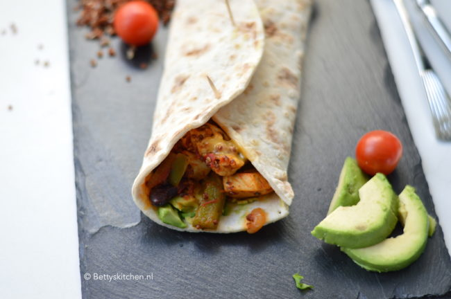 recept Burrito met kip en quinoa betty's kitchen