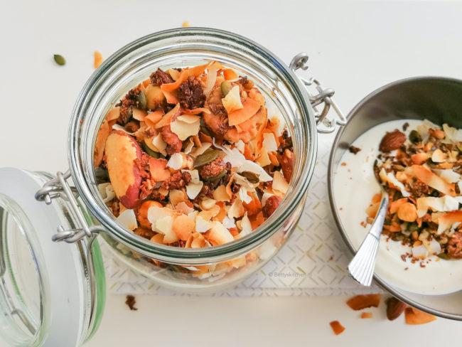 noten granola met kokos recept
