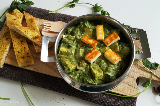 Spinazie curry met paneer