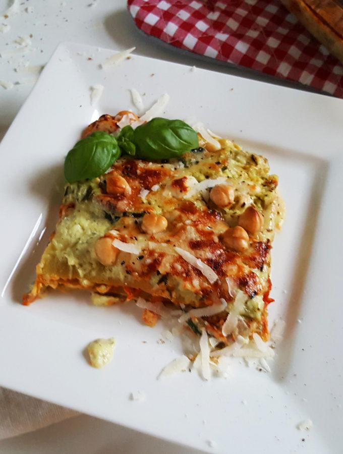 Vegetarische lasagne met courgette