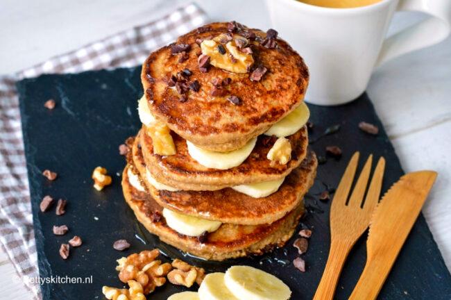 recept voor gezonde havermout pancakes maken