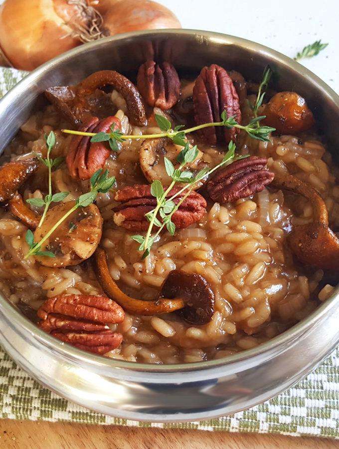receptr Risotto met uien en paddestoelen bettyskitchen