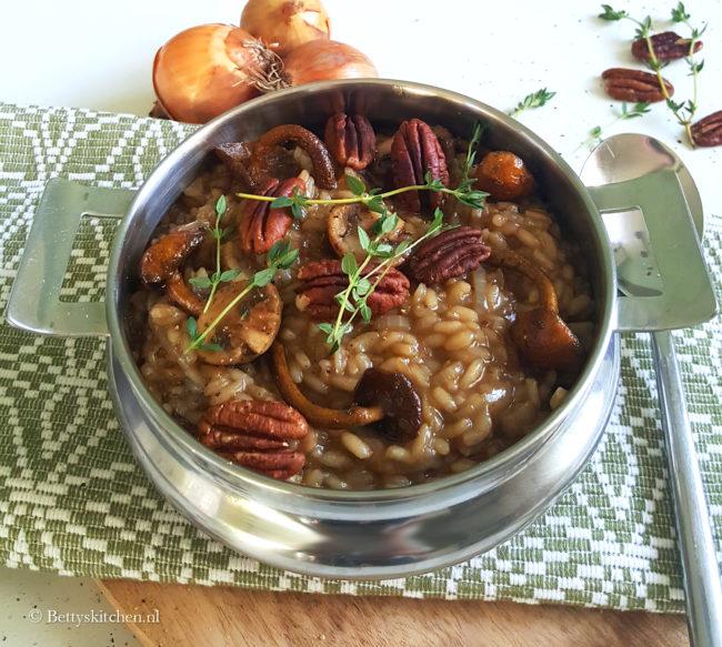 10x bijgerechten voor Kerst - receptr Risotto met uien en paddestoelen bettyskitchen