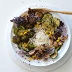 recept hummus Bowl met falafel en courgette betty's kitchen vegan recepten
