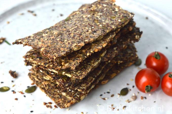 recept lijnzaad crackers bettys kitchen glutenvrij