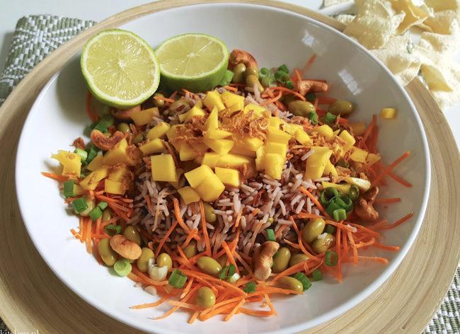 recept Zomerse rijstsalade met mango Betty's kitchen