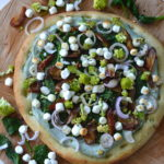 recept pizza met spinazie en geitenkaas
