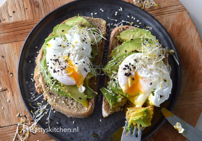 Avocado Op Brood Met Ei Recept Bettys Kitchen Ontbijt Lunch