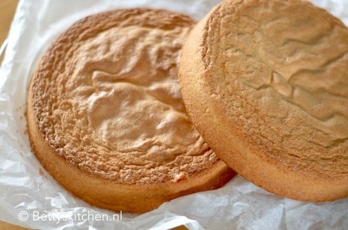 recept biscuit taart beslag maken voor decoreren taarten betty's kitchen