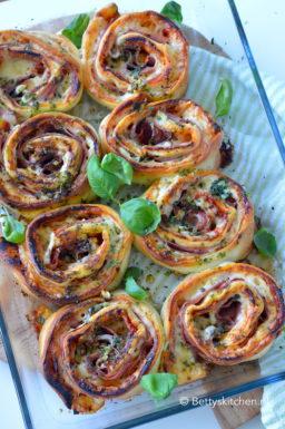 recept pizza rolls met ham en kaas uit de ove betty's kitchen