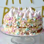 recept unicorn taart met meringues betty's Kitchen