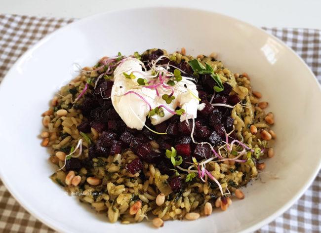 recept risotto met geroosterde rode bietjes en mozzarella © bettyskitchen