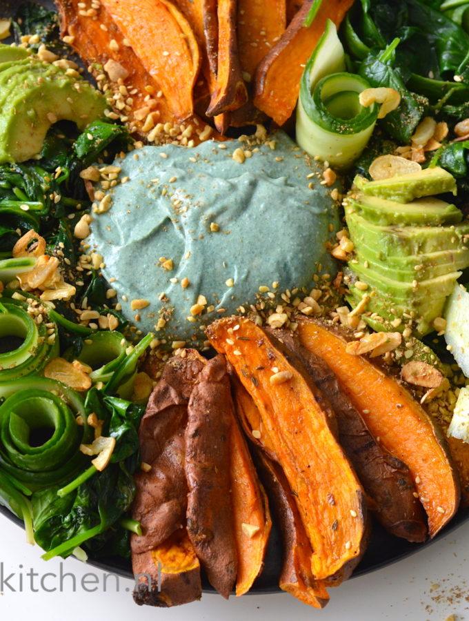 recept hummus bowl met zoete aardappel lunch dip © bettyskitchen.nl