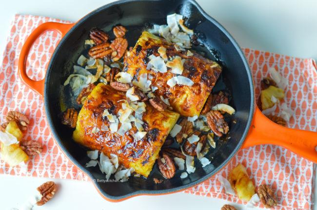 recept gegrilde ananas van de bbq met rum en kokos © bettyskitchen.nl