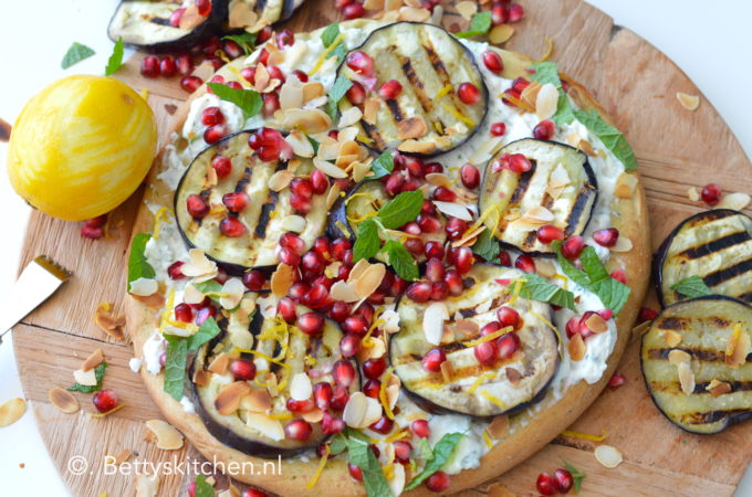 pizza met ricotta en citroen recept bettyskitchen