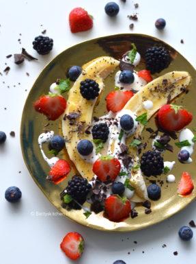 recept Bananasplit ontbijt © betty's kitchen foodblog