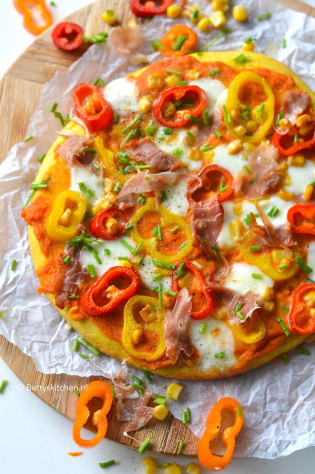 recept Oranje pizza voor Koningsdag © Betty's Kitchena