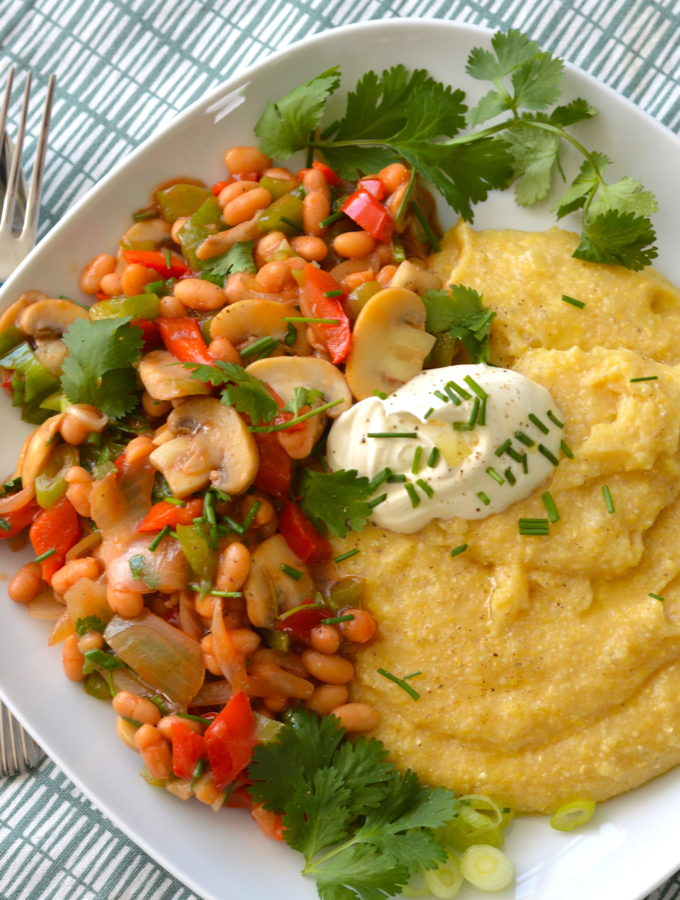 polenta met groenten kookvideo recept © betty's Kitchen