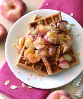 recept glutenvrije wafels met perzik © bettyskitchen