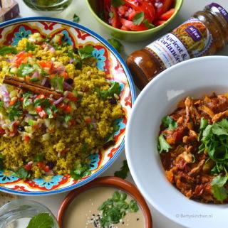 recept marokkaanse couscous met pulled chicken © Bettyskitchen - recept met Al'fez