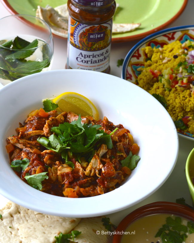 recept marokkaanse couscous met pulled chicken © Bettyskitchen - recept met Al'fez