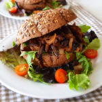 recept vegetarisch broodje pulled aubergine © bettys kitchen