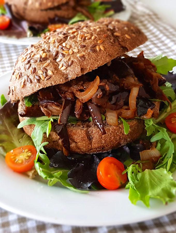 recept vegetarisch broodje pulled aubergine © bettys kitchen