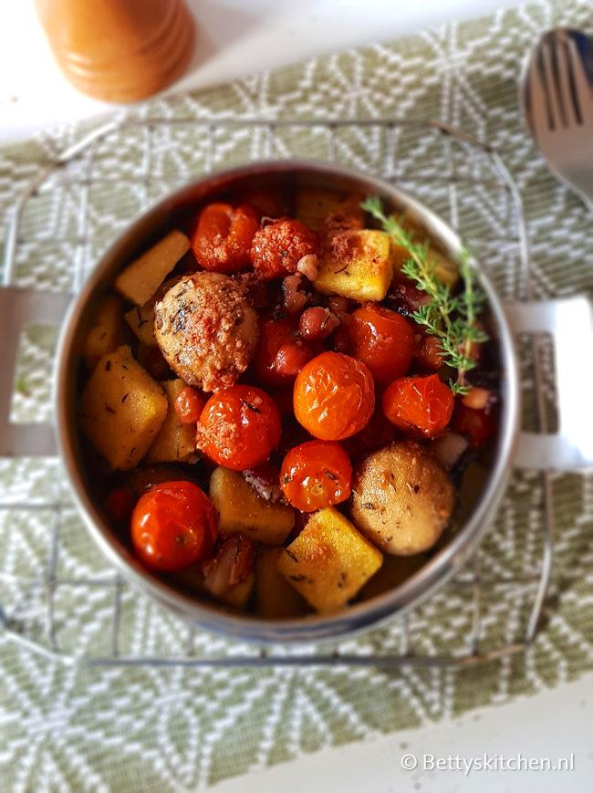 recept gebakken polenta met groenten © bettyskitchen