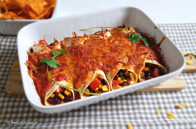 vegetarische enchiladas recept © bettys kitchen