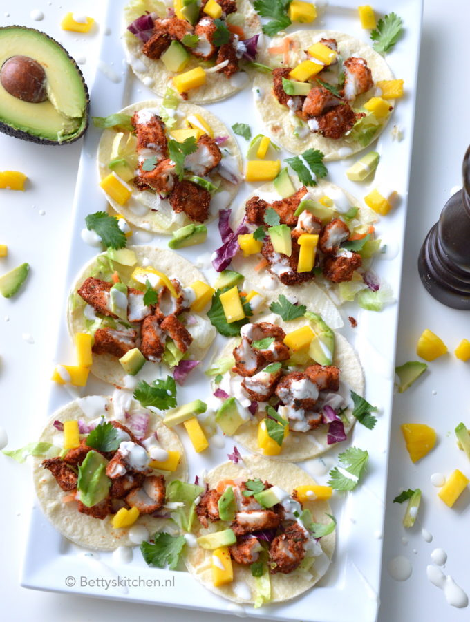 recept fish taco's met mango en avocado © Betty's Kitchen