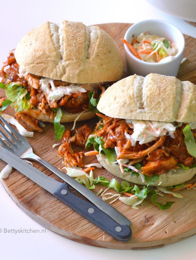 recept Pulled Chicken UIT DE OVEN © bettyskitchen