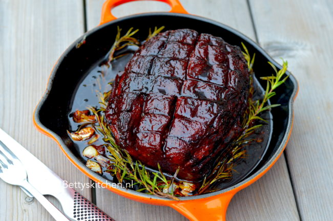 30x barbecue recepten - BBQ recept en grill gerechten - Smoked Watermelon Ham recept Betty's Kitchen gerookte watermeloen zelf maken