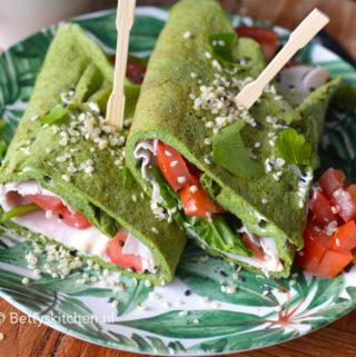 recept voor ei-wraps met spinzie en kipfilet © bettys kitchen