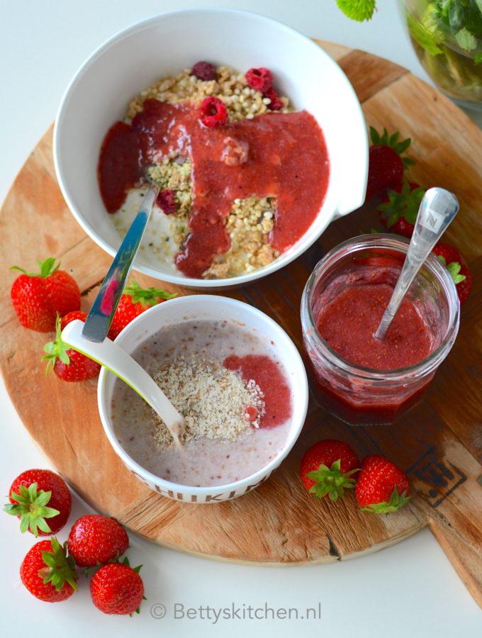 zelf chia aardbeien jam maken